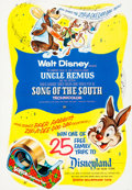 Animation Art:Poster, Song of the South Movie Poster (Walt Disney, 1946/55)....