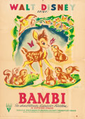 Animation Art:Poster, Bambi Movie Poster (Walt Disney, 1946)....