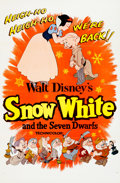 Animation Art:Poster, Snow White and the Seven Dwarfs Re-Release Movie Poster(Walt Disney, 1958)....