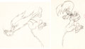 Animation Art:Production Drawing, Slap Happy Lion Lion Animation Drawing (MGM, 1947)....