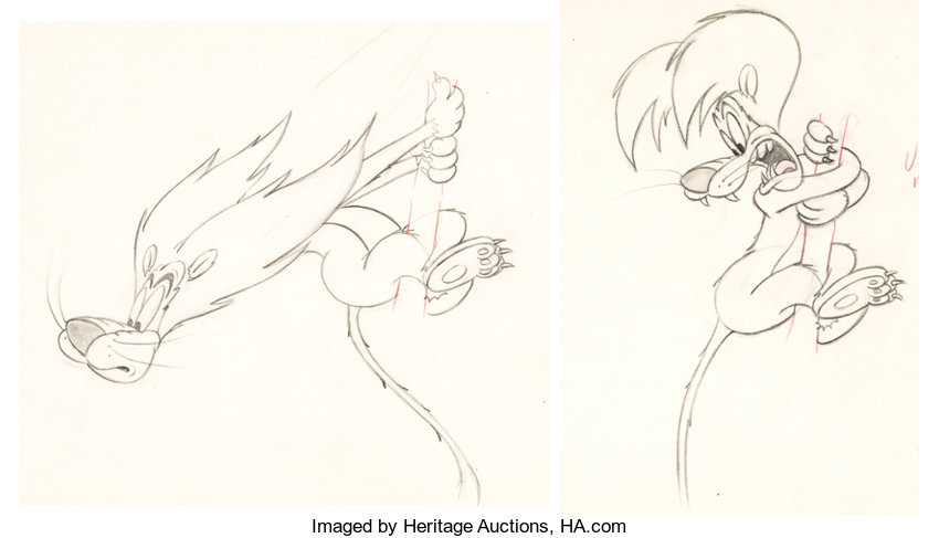 Slap Happy Lion Lion Animation Drawing Mgm 1947 Animation Lot 97849 Heritage Auctions