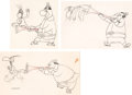 Animation Art:Production Drawing, The Jerky Turkey Turkey and Pilgrim Animation Drawings Groupof 3 (MGM, 1945).... (Total: 3 Original Art)