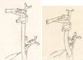 Animation Art:Production Drawing, Henpecked Hoboes Production Drawing Group of 2 (MGM,1946).... (Total: 2 Original Art)