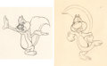 Animation Art:Production Drawing, The Screwball Squirrel Animation Drawings Group of 2 (MGM,1944).... (Total: 2 Original Art)