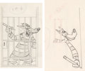 Animation Art:Production Drawing, Northwest Hounded Police Wolfie Production Drawing Group of2 (MGM, 1946).... (Total: 2 Original Art)