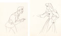 Animation Art:Production Drawing, Sleeping Beauty Briar Rose and Prince Philip AnimationDrawings (Walt Disney, 1959).... (Total: 2 Items)