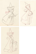 Animation Art:Production Drawing, Sleeping Beauty Fauna, Flora, and Merryweather AnimationDrawing Group of 3 (Walt Disney, 1959).... (Total: 3 Original Art)