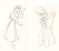 Animation Art:Production Drawing, Sleeping Beauty Briar Rose Animation Drawings (Walt Disney,1959).... (Total: 2 Items)