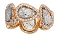 Estate Jewelry:Rings, Diamond, Pink Gold Eternity Band. ...