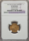 Chile, Chile: Ferdinand VII gold Escudo 1817 So-JF VF Details (Scratches)NGC,...