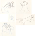 Animation Art:Production Drawing, The Jungle Book Animation Drawings (Walt Disney, 1967)....(Total: 5 Items)
