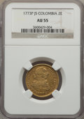Colombia, Colombia: Charles III gold 2 Escudos 1773 P-JS AU55 NGC,...
