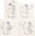 Animation Art:Production Drawing, Popeye the Sailor Man Bluto and Popeye Animation Drawing Sequence Group (Max Fleischer, c. 1930s).... (Total: 23 Original Art)