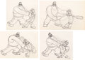 Animation Art:Production Drawing, Popeye the Sailor Man Animation Drawing Sequence Group of 7(Max Fleischer, c. 1930s).... (Total: 7 Original Art)