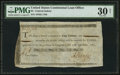 Colonial Notes:Continental Congress Issues, Continental Congress Federal Indent Anderson 166 $2 PMG Very Fine30 Net.. ...