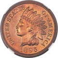 Proof Indian Cents, 1895 1C PR67 Red and Brown NGC....