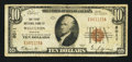 National Bank Notes:Missouri, Wellston, MO - $10 1929 Ty. 1 The First NB Ch. # 8011. ...