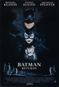 "Movie Posters:Fantasy, Batman Returns (Warner Brothers, 1992). One Sheet (27"" X 41"").Double Sided. Action. Directed by Tim Burton. Starring Michae..."