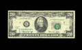 Error Notes:Offsets, Fr. 2071-G $20 1974 Federal Reserve Note. Fine.. This light offset is a cute front to back type that has a little bit of ink...