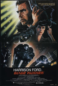 "Blade Runner (Warner Brothers, 1982). One Sheet (27"" X 41""). Sci-Fi Film Noir. Directed by Ridley Scott. Starr..."