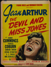 """The Devil and Miss Jones (RKO, 1941). Window Card (14"""" X 18.5""""). Comedy. Directed by Sam Wood. Starring Jean A..."""