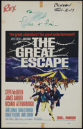 "Movie Posters:Adventure, The Great Escape (United Artists, 1963). Window Card (14"" X 22"").War. Directed by John Sturges. Starring Steve McQueen, Jam..."