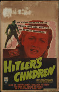 "Movie Posters:War, Hitler's Children (RKO, 1943). Window Card (14"" X 22""). War.Directed by Edward Dmytryk and Irving G. Reis. Starring Tim Hol..."