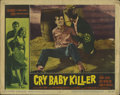 "Movie Posters:Action, Jack Nicholson Lot (Allied Artists/Filmgroup, 1958/1960). Lobby Cards (2) (11"" X 14""). ""Cry Baby Killer"" and ""The Wild Ride.... (Total: 2 Items)"