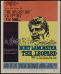 "Movie Posters:War, The Leopard (20th Century Fox, 1963). Window Card (14"" X 17"").Drama. Directed by Luchino Visconti. Starring Burt Lancaster,..."