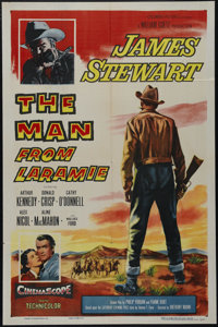 "The Man From Laramie (Columbia, 1955). One Sheet (27"" X 41""). Western. Directed by Anthony Mann. Starring Jame..."