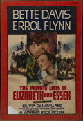 """Movie Posters:Action, The Private Lives of Elizabeth and Essex (Warner Brothers, 1939). One Sheet (25"""" X 39""""). Biography. Directed by Michael Curt..."""