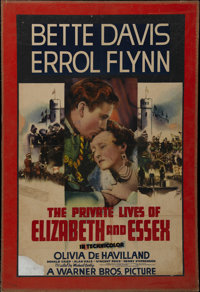 "The Private Lives of Elizabeth and Essex (Warner Brothers, 1939). One Sheet (25"" X 39""). Biography. Directed b..."