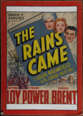 "Movie Posters:Adventure, The Rains Came (20th Century Fox, 1939). One Sheet (25.5"" X 33"").Drama. Directed by Clarence Brown. Starring Myrna Loy, Tyr..."