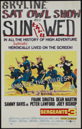 "Movie Posters:Adventure, Sergeants 3 (United Artists, 1962). Window Card (14"" X 22"").Western. Directed by John Sturges. Starring Frank Sinatra, Dean..."