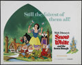 "Movie Posters:Animated, Snow White and the Seven Dwarfs (Buena Vista, R-1975). Half Sheet(22"" X 28""). Animated Fairy Tale. Directed by Dorothy Ann ..."