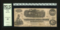 Confederate Notes:1862 Issues, T40 $100 1862. This note carries an interest paid stamp and acircular treasury stamp. PCGS Extremely Fine 45....