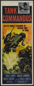 "Movie Posters:War, Tank Commandos (AIP, 1959). Insert (14"" X 36""). War. Directed byBurt Topper. Starring Maggie Lawrence, Wally Campo, Donato ..."