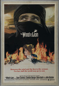 """The Wind and the Lion (MGM/UA, 1975). One Sheet (25"""" X 38""""). Adventure. Directed by John Milius. Starring Sean..."""