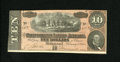 Confederate Notes:1864 Issues, T68 $10 1864. Minute handling is noticed on this Ten. Choice About Uncirculated....