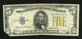 Small Size:World War II Emergency Notes, Fr. 2307 $5 1934A North Africa Silver Certificate. Very Fine.. A boldly printed piece with stong color....