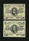 Fractional Currency:Third Issue, Fr. 1236 5c Third Issue Choice New. Fr. 1238 5c Third Issue Gem New.. ... (Total: 2 notes)