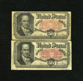 Fractional Currency:Fifth Issue, Fr. 1380 50c Fifth Issue Very Good and Fine. Two pieces here grade slightly differently....