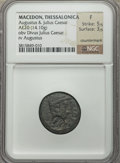 Ancients:Roman Provincial , Ancients: MACEDONIA. Thessalonica. Augustus (27 BC-AD 14). AE 20 mm(14.10 gm)....