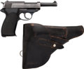 Handguns:Semiautomatic Pistol, Manurhin Pstolet P1 Semi-Automatic Pistol with Leather Holster....