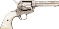 Handguns:Single Action Revolver, D.W. Harris Engraved Single Action Army Revolver....