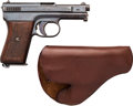 Handguns:Semiautomatic Pistol, Mauser Semi-Automatic Pistol with Leather Holster....