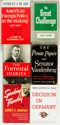 Books:Americana & American History, [American History, Politics]. Group of Six Books Related to WorldWar II. Various publishers and dates.... (Total: 6 Items)