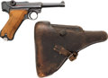 Handguns:Semiautomatic Pistol, German byf 42 P-08 Semi-Automatic Pistol with Leather Holster....