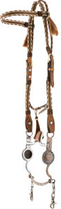 Western Expansion:Cowboy, Horsehair Headstall with Engraved Fleming Bit...