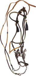 Western Expansion:Cowboy, Horse Hair Bridle with Six-Shooter Bit....